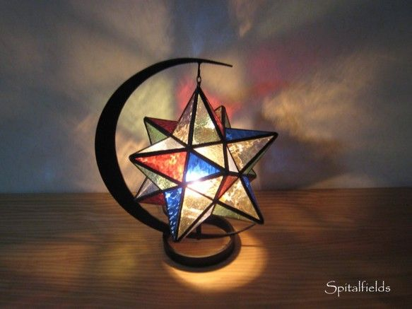 星の吊りランプ(マルチカラー)