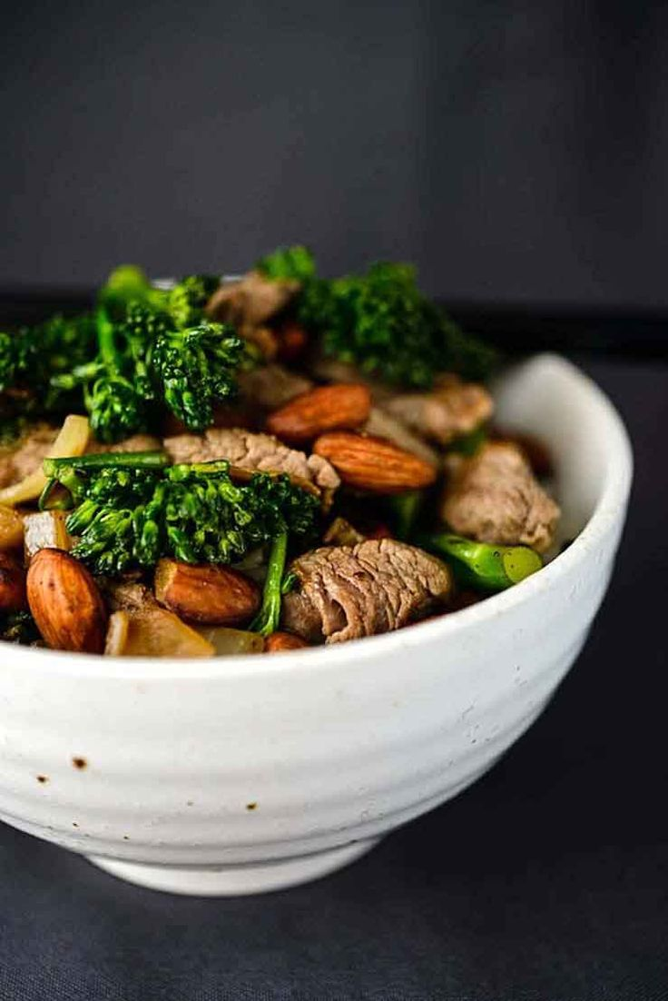 Beef, Broccolini & Almond Stir-Fry