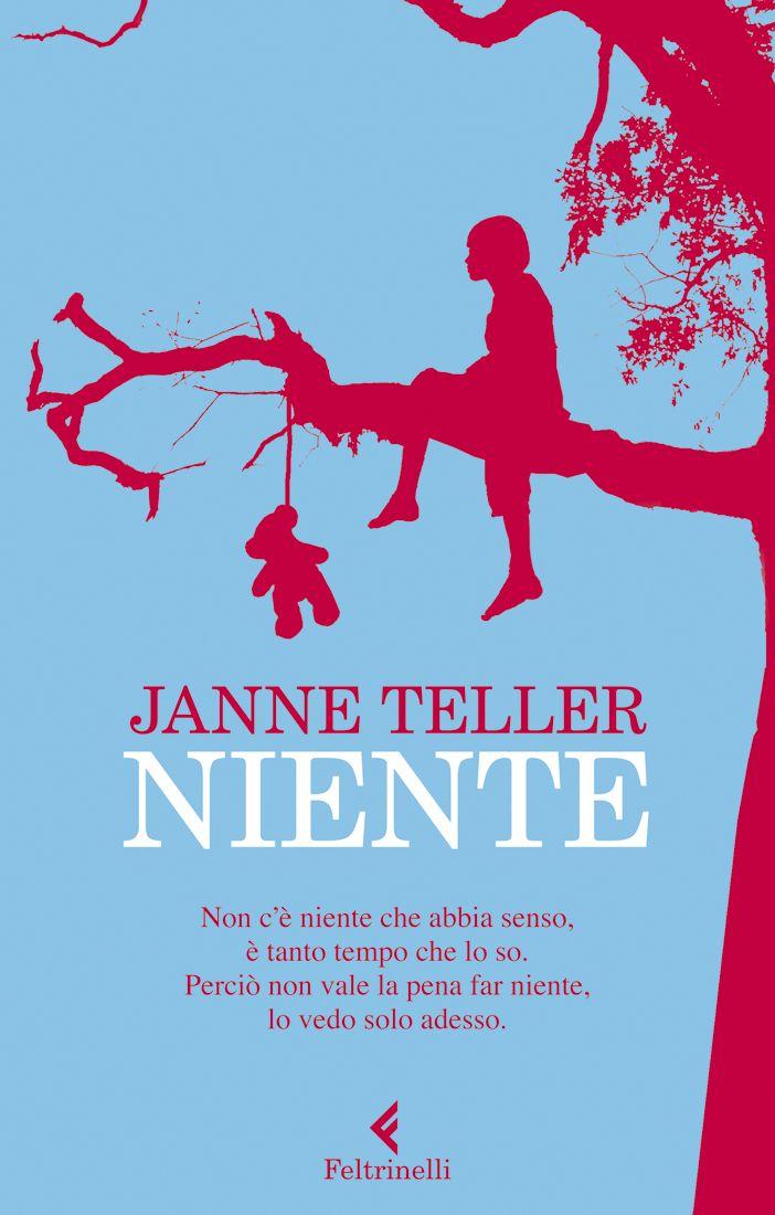 """Janne Teller, """"Niente"""". """"Se niente ha senso, è meglio non far niente piuttosto che qualcosa"""" dichiara un giorno Pierre Anthon, tredici anni... Un romanzo sul significato della vita, coraggioso e provocatorio. Un grande successo internazionale, censurato e pluripremiato."""