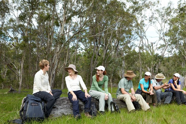 Taking a well-earned break on the Spicers Scenic Rim Trail