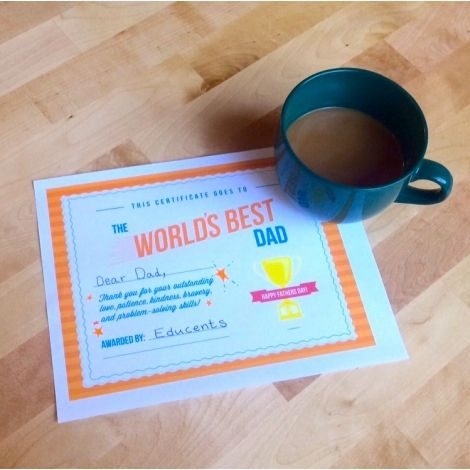 Free World's Best Dad Printable