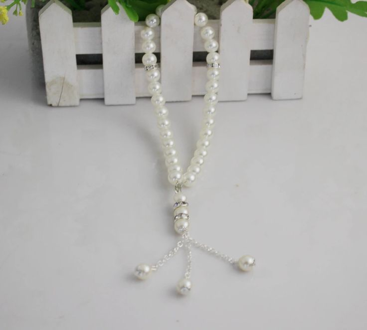Free Shipping factory directly sale islamic white color  plastic material Prayer Beads 10pcs / Lot  for hot selling