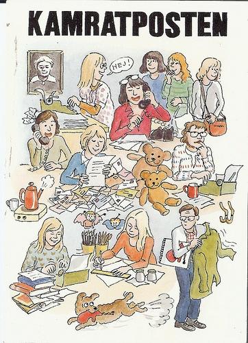 KP-redaktionen - postcard by Cecilia Torudd
