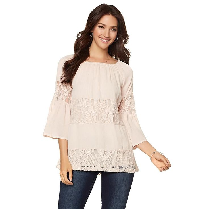 Curations Caravan Lace Inset Tunic - Sand Safari