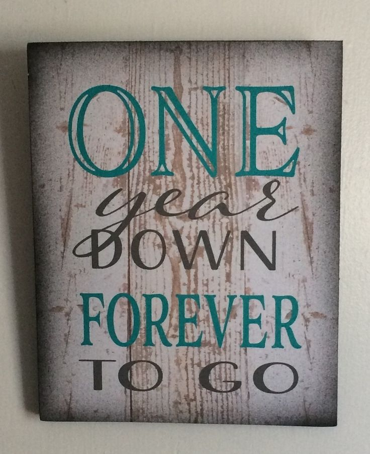 One 1 year down forever (any year)  to go wood sign canvas photo clip frame - anniversary, birthday, christmas, photo wall by HeartlandSigns on Etsy