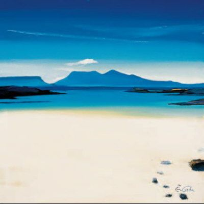 View To Rhum Limited Edition - ART PRINT BY PAM CARTER, SCOTTISH ARTIST