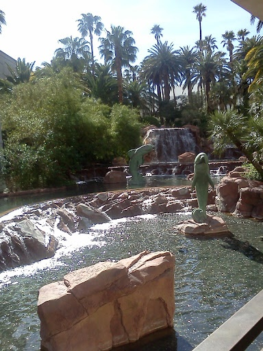 Outside the Mirage Hotel