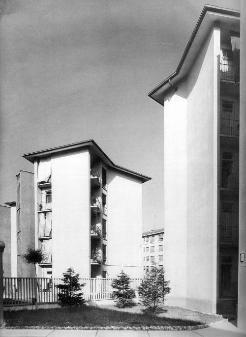 ignazio gardella con f albini - quartiere iacp mangiagalli, milano, 1950-52