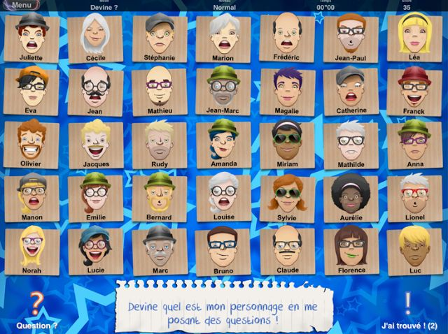 Guess Who - try using class picture! (French Apps for Kids: Qui est-ce? ... For giving descriptions)