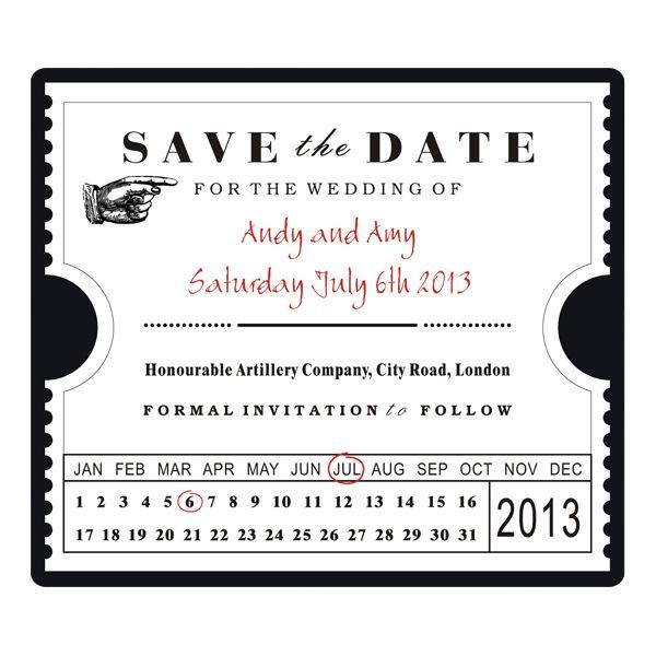 wedding invites ticket stubs save the date ticket stub template invites ideas pinterest. Black Bedroom Furniture Sets. Home Design Ideas