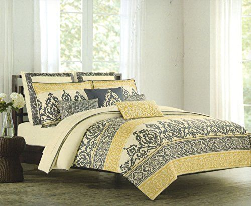 Nicole Miller Home King Cal King Duvet Cover And Shams Set