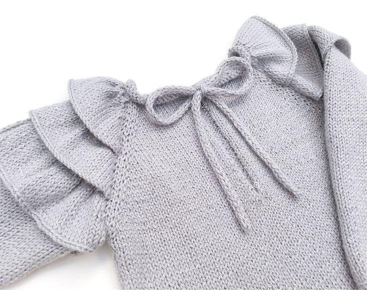 Jersey de Punto con Volantes para bebé – Tutorial y Patrón –