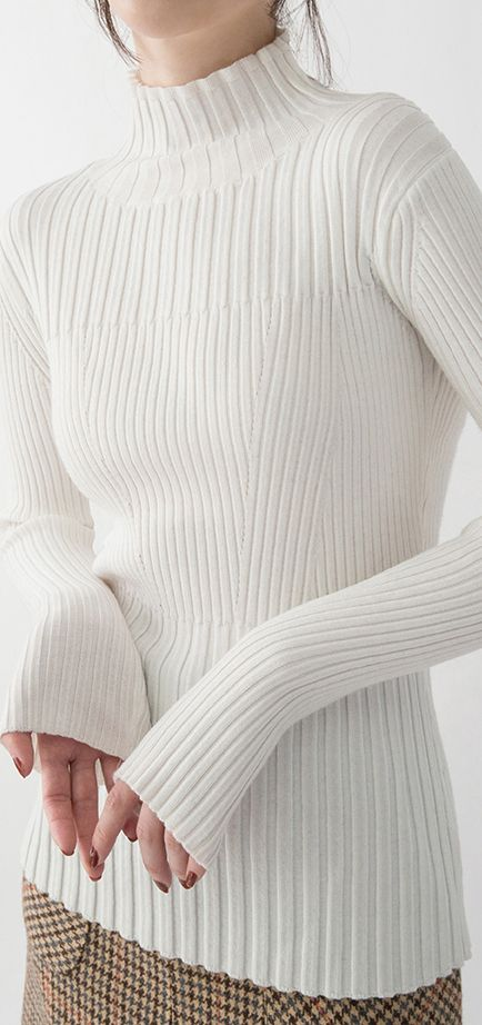 12d68c57d3 New-white-pullover-Loose-fitting-Turtleneck-shirts-women-slim-brief-sweater3