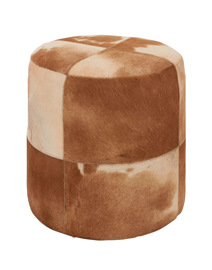 attractive leather round ottoman wayfair - Leather Pouf