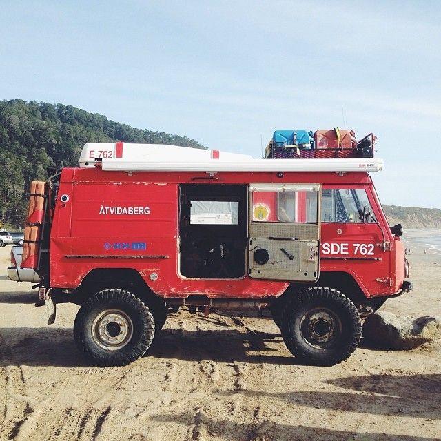 outlivingthebastards: Meet Phil and his 1973 Swedish fire truck converted #adventuremobile #volvo #unimog