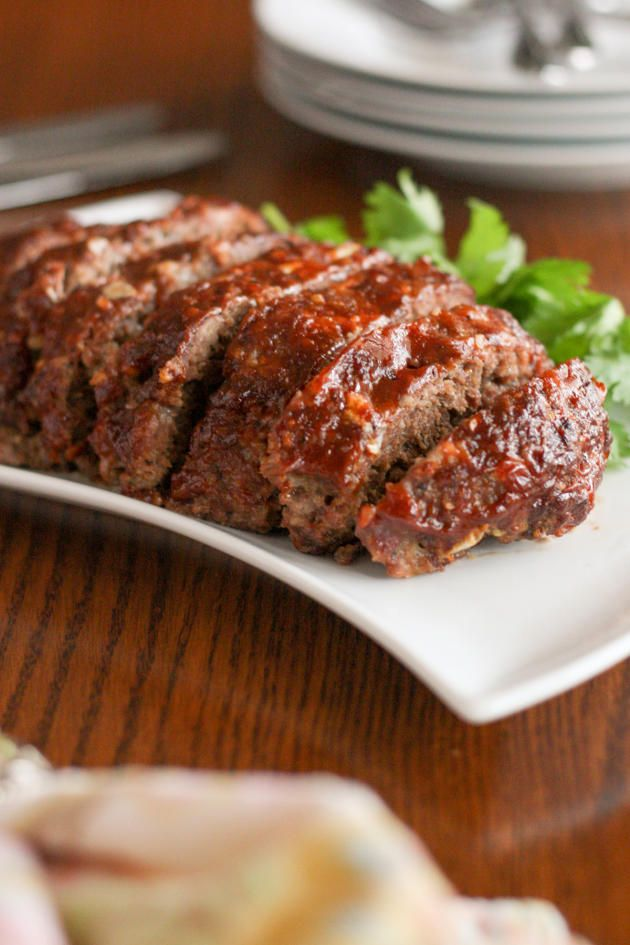 Gluten Free Slow Cooker Meatloaf has a delicious glaze on top. Incredible!