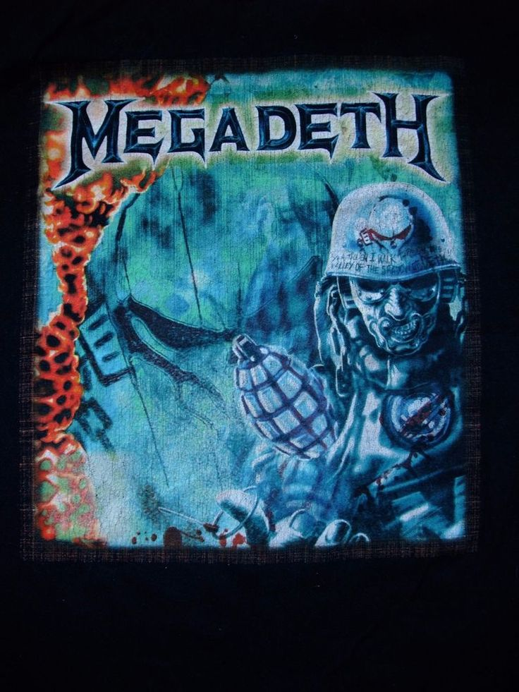 Megadeth United Abominations Tour of Duty 2008 XL cotton black t-shirt #Gildan #GraphicTee
