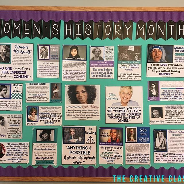 I finished my Women's History Month bulletin board today! I am beyond thrilled with how it turned out! Keep your eyes peeled later in the week for a chance to win your own #diy bulletin board kit for Women's History Month! . . . #teachers #teacherlife #te