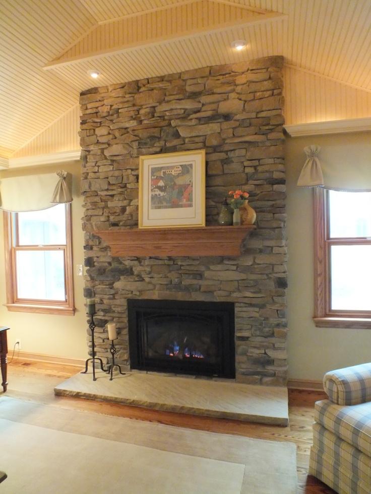 Living Room Remodel  Fire Place Bricks/stones