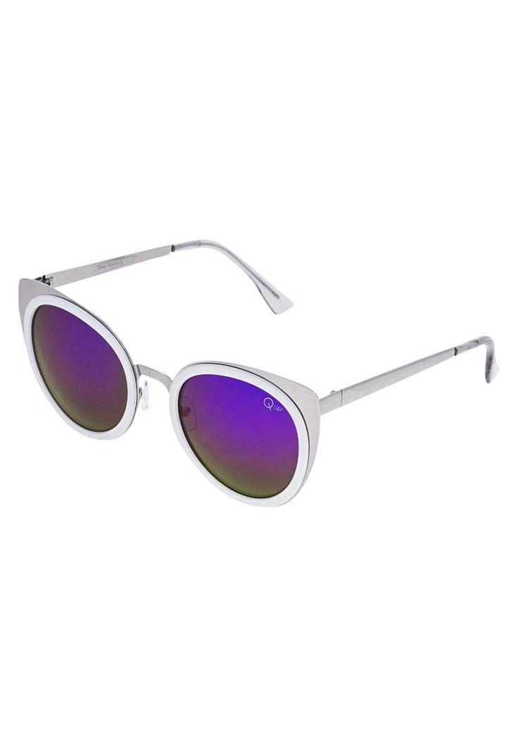 Quay GIRLY TALK Okulary przeciwsłoneczne white/purple mirror