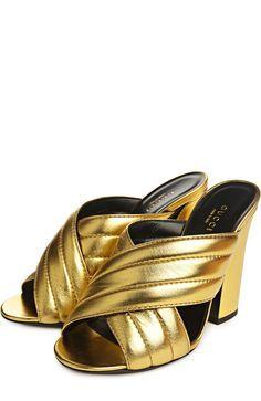 Gucci Сабо Sylvia Золотой 46 700 Р.