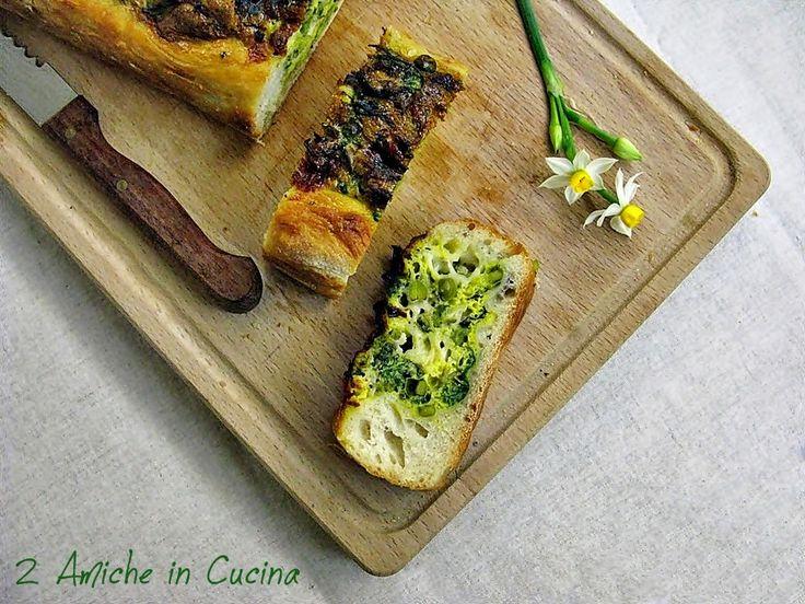 Plum cake Salato con Erbe di Campo, Piselli e Asiago | 2 Amiche in Cucina