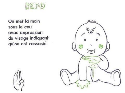 signe avec bébé REPU