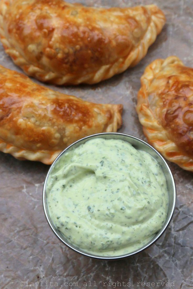 Aderezo de mayonesa con aguacate y cilantro
