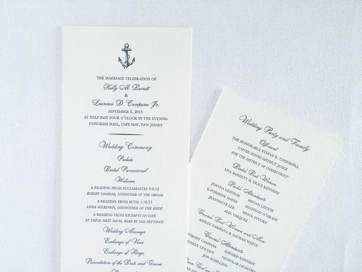 Best 25+ Wedding program samples ideas on Pinterest