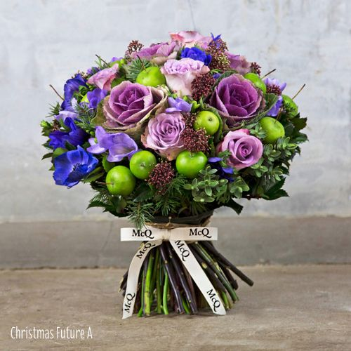 Wonderful Christmas themed bouquets from London florist McQueens | Flowerona