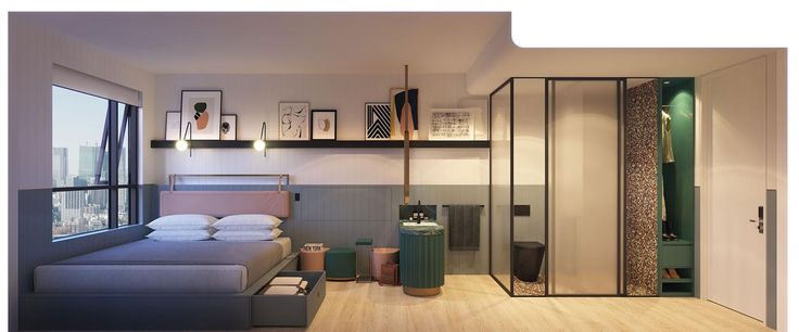 Scott Carver's Micro Hotel Room Concept Fifteen - by the interior's team