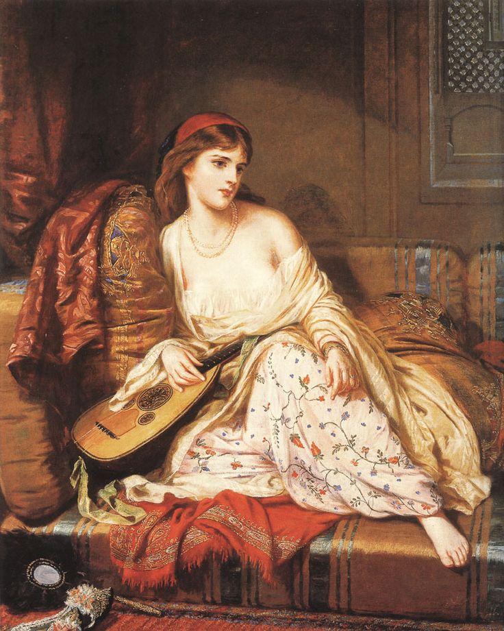Charles Wynee Nicholas (Irish painter , 1831 – 1903) – The Light of the Harem