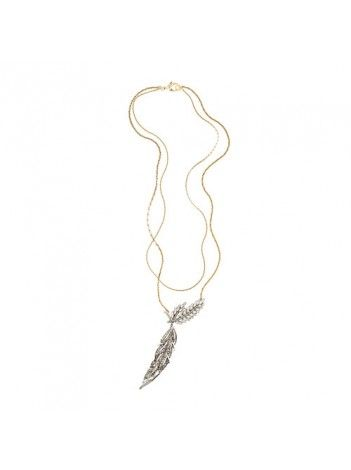 Lulu Frost For J. Crew Wheat Pendant Necklace $60