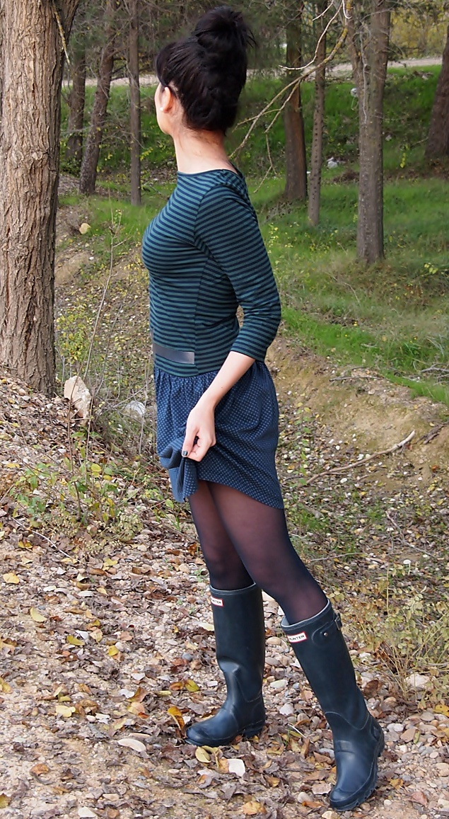 Mara wearing her Wellingtons 3 - Woodland walk
