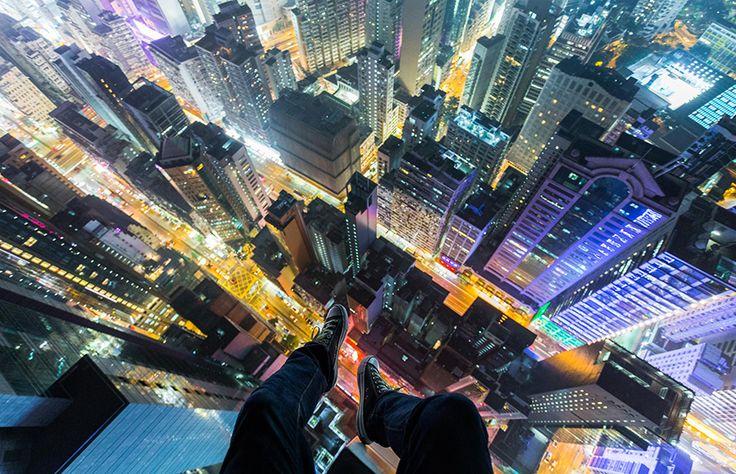 Some crazy photos from the very top of Hong Kong by Russian photographer Vitaly Raskalov - http://raskalov-vit.livejournal.com/