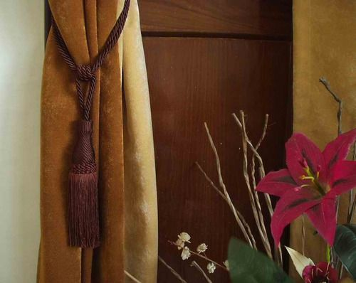 Pair - Brown Decorative handmade Tiebacks / Tassel / Curtain Holdback