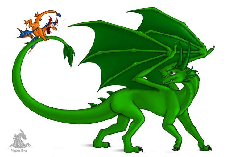 The Green-dragoness and Nefili by VixenDra.deviantart.com on @DeviantArt Characters: The Green-dragoness&Nefili (C)Cynysi