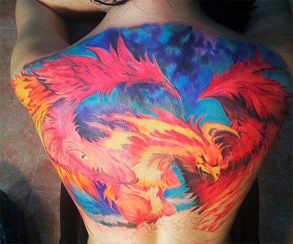 значение татуировки феникс