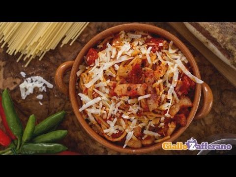 Spaghetti amatriciana - original Italian recipe  A classic recipe from Rome, its simple preparation highlights fantastic local ingredients. Guanciale is a cured meat made from the cheek cut of pork — if you can't …  http://LIFEWAYSVILLAGE.COM/cooking/spaghetti-amatriciana-original-italian-recipe/