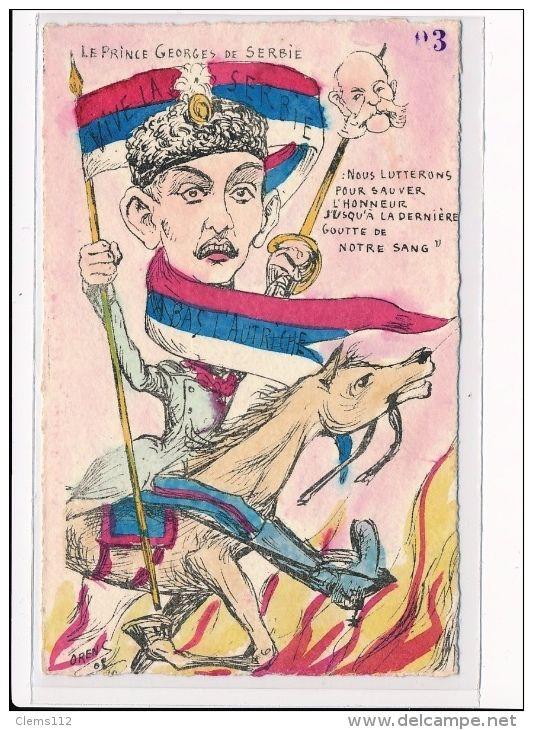 """WWI, French postcard : """"le Prince Georges De Serbie """""""