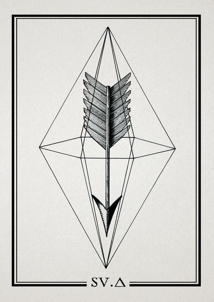 arrow, diamond, geometry   Symbols   Tattoos, Tattoo ...