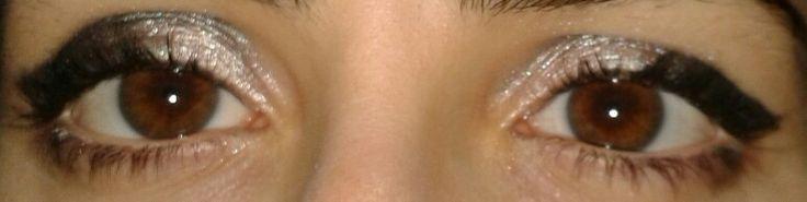 My make-up! Chocolate eyes, intense make-up! Love it!