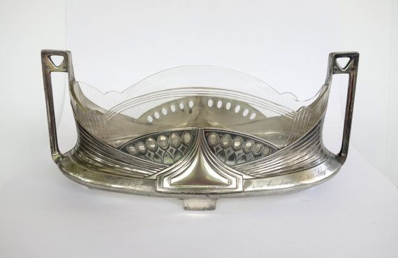 Antique WMF Silver Centerpiece Jardiniere with by BeeHavenHome