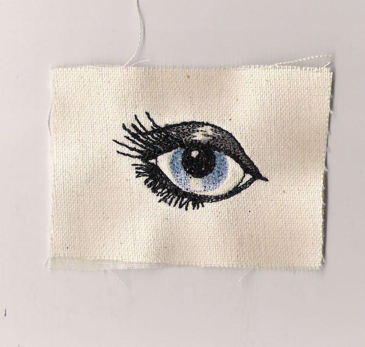 Embroidered eye