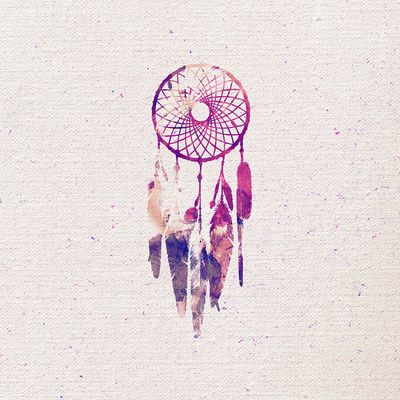 Dream Catcher Watercolor Paint Art Print. Something like this, will have to find a good artist...
