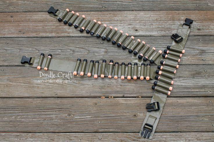 Doodlecraft: Duct Tape Bullet Bandolier Belt and Utility Vest!