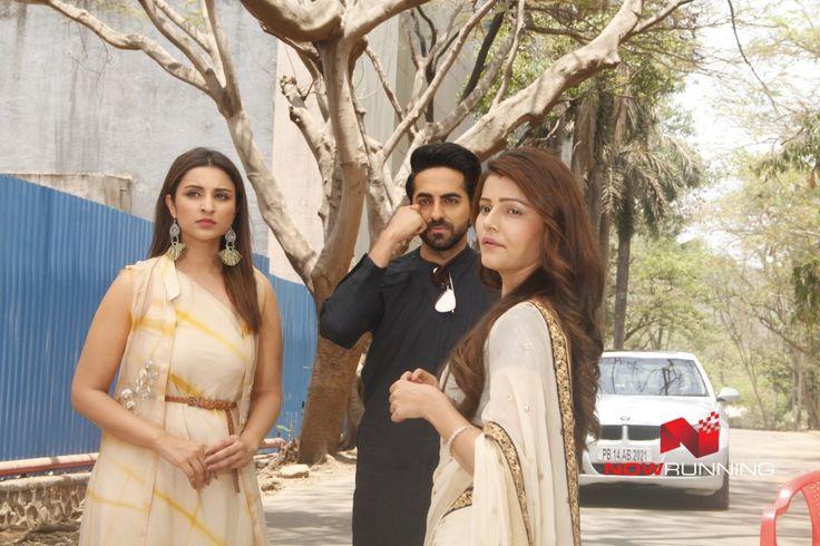 Parineeti Chopra and Ayushmann Khurrana promote their film 'Meri Pyaari Bindu' on the sets of TV show, Shakti Astitva Ke Ehsaas Ki