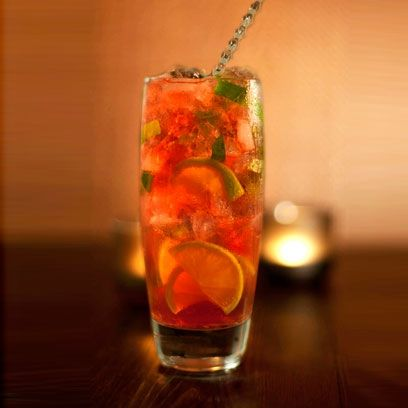 Try this Winter Cranberry Mojito. Best Christmas Cocktail Recipes | Christmas Drinks Recipes | Easy Christmas drinks | Go to www.redonline.co.uk for the recipe.
