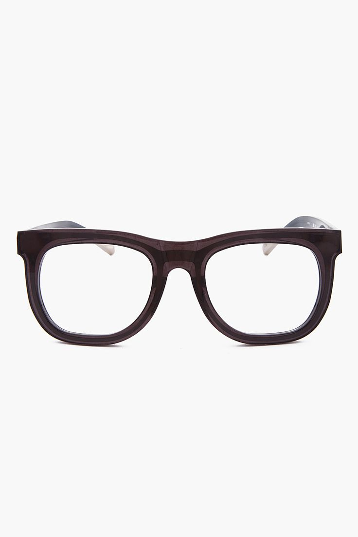 KRIS VAN ASSCHE Translucent Black Optical Glasses