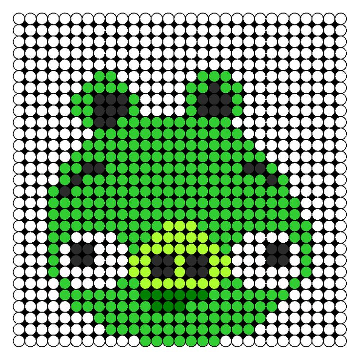 Angry Birds Pig perler bead pattern